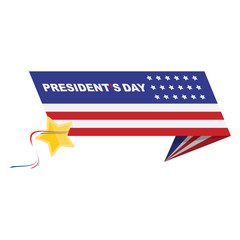 Happy Presidents Day of USA. Template design element with text and US flag