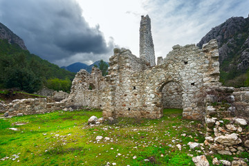 Olympos antique city, ruins