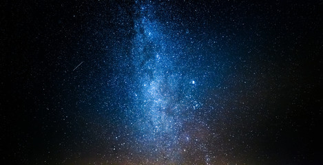 Beautiful milky way with million stars at night