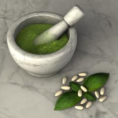 Pesto alla genovese - condimento per la pasta