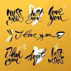 love lettering background
