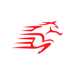 Save Download Preview Horse delivery express for business logo template.