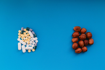 pills or nuts, your choice, nuts are useful or harmful pills. How to cure
