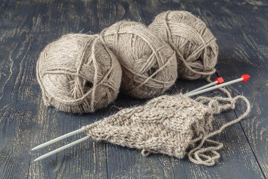 Natural merino wool for knitting