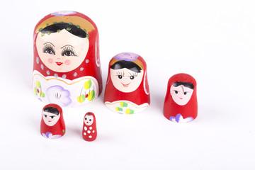 matryoshka doll white background
