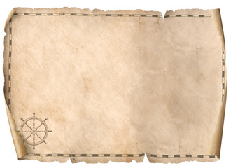 treasure map isolated background 3d illustration