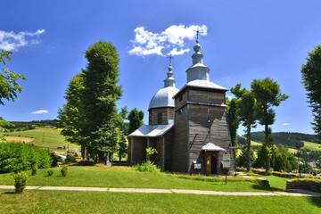 Wooden church in Zlockie village, Muszyna district, Poland