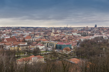Wall Mural - View of the city of Vilnius