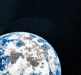 3D Rendering World Globe from Space. Earth. View of Earth From Space. Elements of this image furnished by NASA