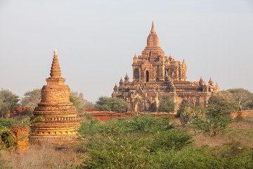View to the ancient temples in Bagan, Myanmar