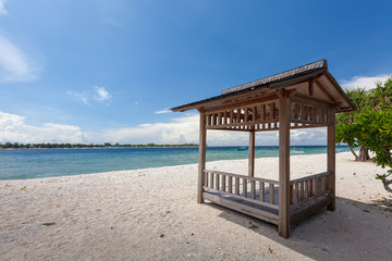 Beautiful seashore of Gili Meno island, Indonesia