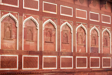 Poster de jardin Monument Interior elements of the Red Fort in Agra, India