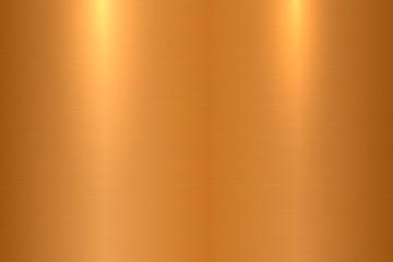 Bronze brushed metal texture. Shiny polished metallic surface background