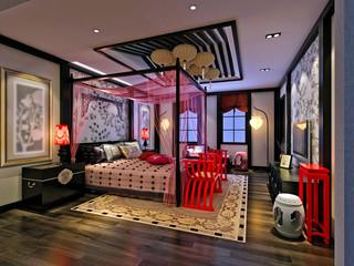 3d render of bedroom