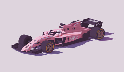 Stores à enrouleur F1 Vector low poly formula racing car