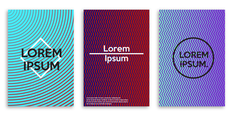 Minimalist design covers for brochures. Vector illustration.