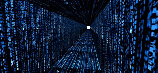 Binär Code Tunnel