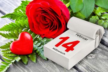Valentinstag - Rosen und Herz