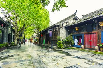 Fotobehang Beijing Old buildings in Kuan Alley and Zhai Alley, Chengdu, Sichuan