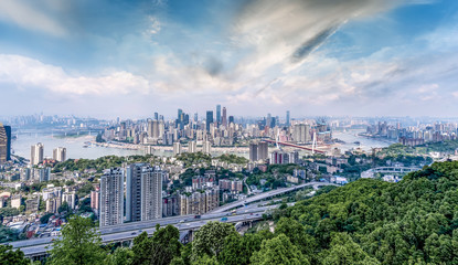 Skyline of urban architectural landscape in Chongqing