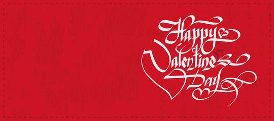 Happy Valentine's Day Hand Drawing. Greeting Card