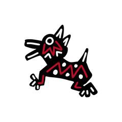 Dog icon  Aztec