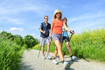 gemeinsam fit werden mit Nordic Walking in der Gruppe