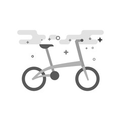 Bicycle icon in flat outlined grayscale style. Vector illustration.