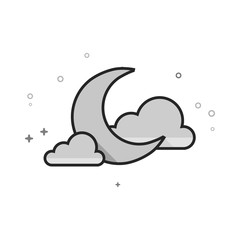 Nature forecast clear night. Vector illustration.