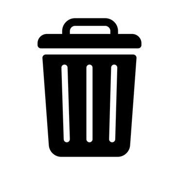 trash can,garbage can,rubbish bin icon