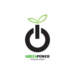 Green power logo