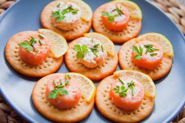 Salmon tartare appetizer