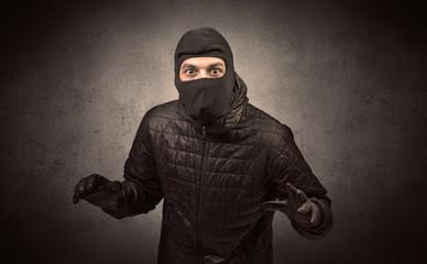 Burglar with tool. - fototapety na wymiar