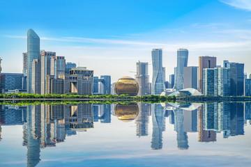 Skyline of urban architectural landscape in Hangzhou