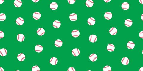 Baseball seamless pattern softball vector isolated illustration wallpaper background icon green