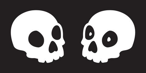 skull icon vector bone Halloween illustration character black