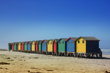 Beach Huts in Cape Town