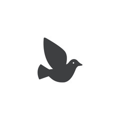 pigeon icon. sign design