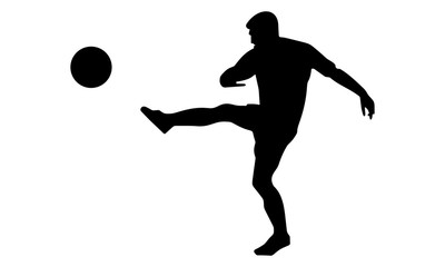 the silhouette of a man kicked