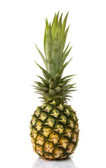 Pineapple on white background. Tropical fruit.
