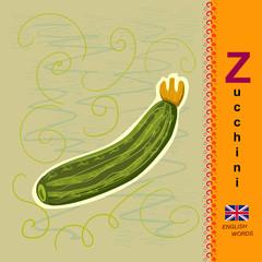 English letter Z. Zucchini