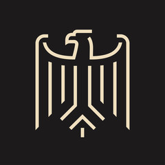 Abstract minimal eagle logo