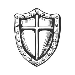 medieval knight shield icon