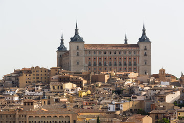 A view of beautiful medieval Toledo, Spain.