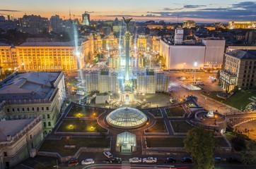 Fotobehang Kiev indepdent day in kiev