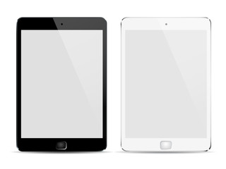 Black and white tablet - vector