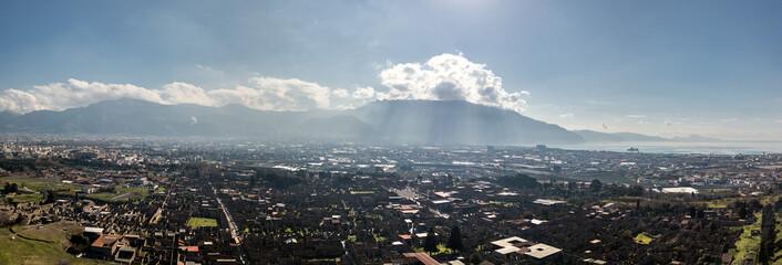 Aerial view of Pompeii