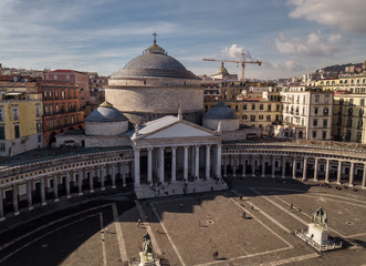 Basilica di San Francesco di Paol,Naples,Italy.
