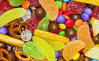 Autocollant pour porte Confiserie Bunte Süßigkeitenmischung