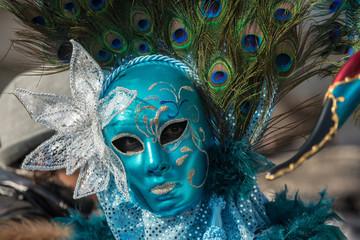 Traditional venetian carnival costume